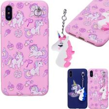 Soft TPU Silicone Unicorn Case With Pendant Shockproof Case Cover For Various