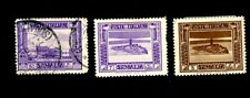 ITALIAN SOMALILAND 1932 SCOTT 138a, 139a, 146a POSTAGE STAMPS