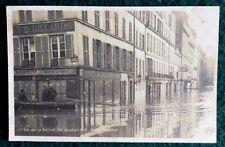 CPA. PARIS. 75 - Crue de la Seine. 30 Janvier 1910. Quai d'Orsay. Aquarium. Café