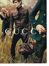 PUBLICITE ADVERTISING 094  2008  GUCCI   haute couture homme