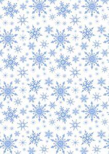 Lewis & Irene Tomten Christmas Snowflakes (W) CE14.1 100% COTTON FABRIC per1/4m