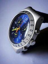 Swatch Sidney 2000 Irony Chrono Alumin. Patent W.R Oversize 40mm Dial Blue Patek