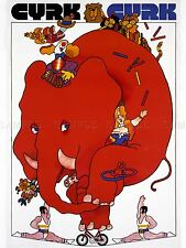 Pubblicità culturale CIRCO Polonia red elephant Acrobat DIVERTENTE poster stampa lv639
