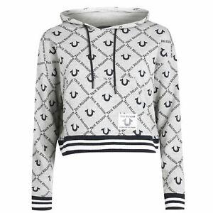 Womens True Religion Logo Hoodie OTH Long Sleeve New
