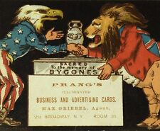 1870's-80's Prang's Illuminated Cards Uncle Sam as Eagle John Bull as Lion F74