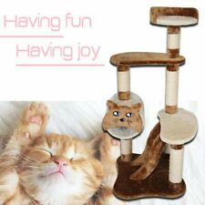 """Cat Tree For Large Cats 46"""" Tower H Climbing Pet Scratcing post Kitten Furniture"""
