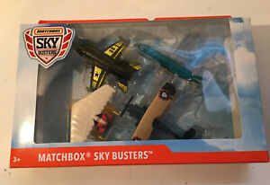 2019 Matchbox Sky Busters Planes 4 Pack New in Package Super Hornet F/A-18 GCC91