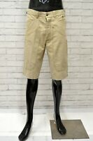 Bermuda BEST COMPANY Uomo Taglia 50 Pantaloncino Pantalone Corto Shorts Man Lino