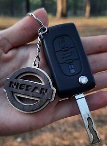 Best Price Wooden Nissan Keyring Key Laser Cut Wood Car Keychain Natural