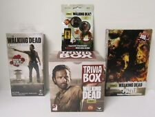 Cardinal Walking Dead Trivia Box Game 300 pc Puzzle Card Game Tokenz 4pc NEW