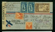 1Cuba 1942 Censored Special Delivery Airmail to Us franked Scott E7, C32, & Ra5