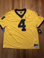 NWT Michigan Wolverines Jordan DriFit Mens Team Issued Jersey #4 Size XXXL $135