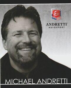 """2012 Michael Andretti """"Andretti Autosport"""" Indy Car postcard"""