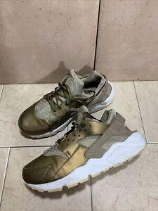 Nike Air Huarache Premium TXT Women's Running Shoes AA0523-201 Khaki Size 8.5 M