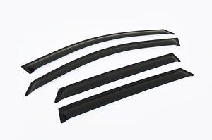 Black Tinted Door Visor Weather Rain Shield for Kia Sorento XM 2009-15