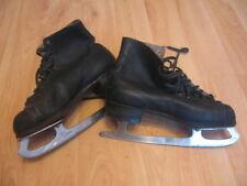 Vintage Polar Wien leather boy ice figure skates size 37