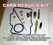 CARBURETOR REBUILD KIT MAIN JET GASKET NEEDLE SPRING HONDA XR650R 00 01 02 03 06