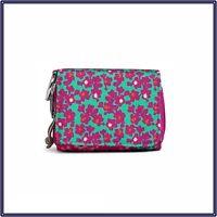 New Vera Bradley Lighten Up RFID Card Case Mini Wallet in Ditsy Dot Pink Floral