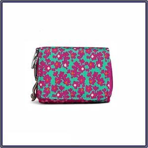 NWT Vera Bradley Lighten Up RFID Card Case Mini Wallet in Ditsy Dot Pink Floral
