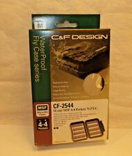 C&F Design Fly fishing Box Cf-2544 Medium 4x4 Pockets Waterproof Beige