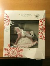 Wedgwood Pink My First Christmas 2016 Rocking Horse Babys 1St Christmas Ornament