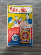 MAGIC CANDLES, RE-LIGHTING - GAY-GEM PRODUCTS - 1970'S VINTAGE - NEW PACKAGE