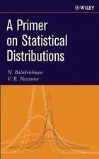 A Primer on Statistical Distributions, Nevzorov, V. B.,Balakrishnan, N., Very Go