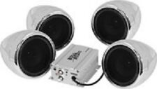 Boss Audio 1000W 4-Speaker Bluetooth Sound System Chrome Can-Am Yamaha All Utv (Fits: More than one vehicle)