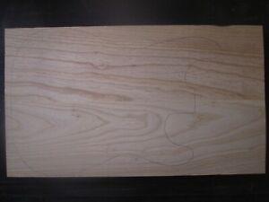 swamp ash Sumpfesche leicht blank Rohling 57x32,7x4,5cm Gitarre Tonholz SE22