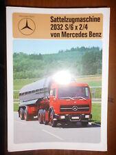 LKW Sales Brochure Prospekt Mercedes-Benz Sattelzugmaschine 2032 S/6 x 2/4