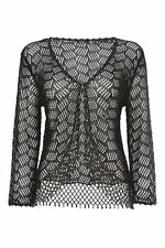 Women's Thin Knit Collared None Viscose Jumpers & Cardigans