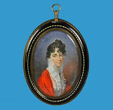 Domenico Bossi (1767-1853) signierte Miniatur im sehr seltenen Originalrahmen