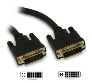 6ft DVI-I Dual Link DIGITAL AND ANALOG (28 AWG) Gold Plated Cable