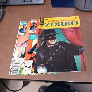 Zorro 4 Gold Key 1 & 7 Marvel Comics Lot Run Set Silver Modern Age Collection