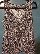 DKNY Leopard Print Sleveless Top - Size L
