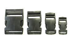 20mm 25mm 40mm 50mm Black Plastic Side Release Buckles For Webbing Bags Straps