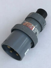 Russellstoll 3760 Pin Amp Sleeve Male Plug 30a 250v 20a 600vac 3 Pole 4 Wire
