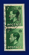 1936 Sg457 ½d Green P1 Pair Camberley Surrey 23 No 36 Good Used ctvc