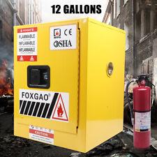 12 Gallon Flammable Liquid Safety Locker Storage Cabinet Fireproof Amp Leakproof