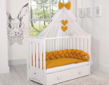Geflochtenes Nestchen Kopfschutz Kinderbett Bettzopf Bettschlange lila 180cm