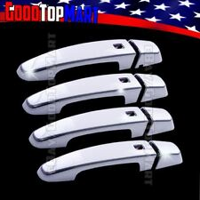 For Chevy IMPALA 2014 2015 2016 2017 Chrome 4 Door Handle Covers WITH Smart KH