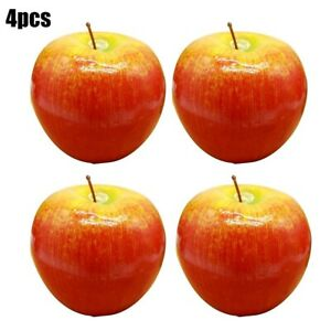 4pcs Pack Artificial Plastic Fruit Fake Display For Kitchen Home Foods Decor