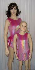 Ice Skating CLEARANCE Velvet ROSE Glitz Rainbow Dress Dance Costume Child Small