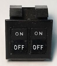 """Thomas Built Buses TBB Double Rocker Switch """"On - Off"""" S4405 1 1/8"""" x 1 1/4"""""""