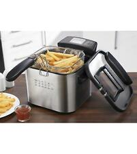 EGL 4 Litre Deep Fat Fryer Digital Stainless Steel 4L Fry - NEW - SILVER