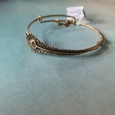 NEW Alex and Ani Peacock Feather bracelet Gold NWT