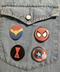 Marvel Button Badges 32mm *1 badge*