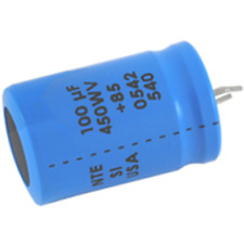 NTE Electronics SI470M200 CAPACITOR SNAP IN ALUMINUM ELECTROLYTIC 470UF 200V 20%