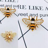 Bee Kind Enamel Pin Cute Honey Bee Badge Brooch aesthetic Animal Jewelry Gifts