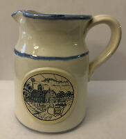 Mid America Dairymen 1988 Sunrise Farm Scene Pitcher 5 1/8""